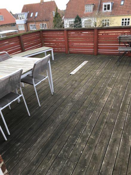 Ny terrasse førbillede - Tømrermester Steen